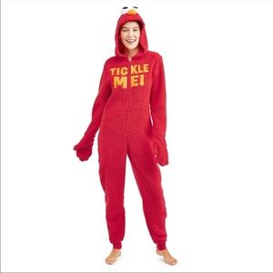 "Elmo Union Suit Costume ""Tickle Me"" 8-10 New"